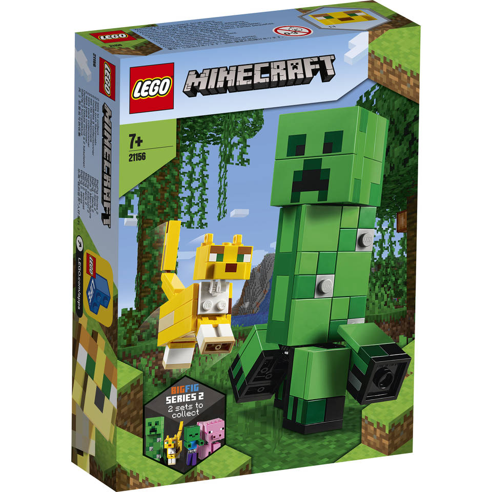 LEGO Minecraft BigFig Creeper en Ocelot 21156