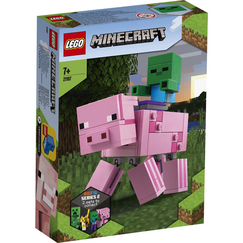 LEGO Minecraft BigFig varken met babyzombie 21157