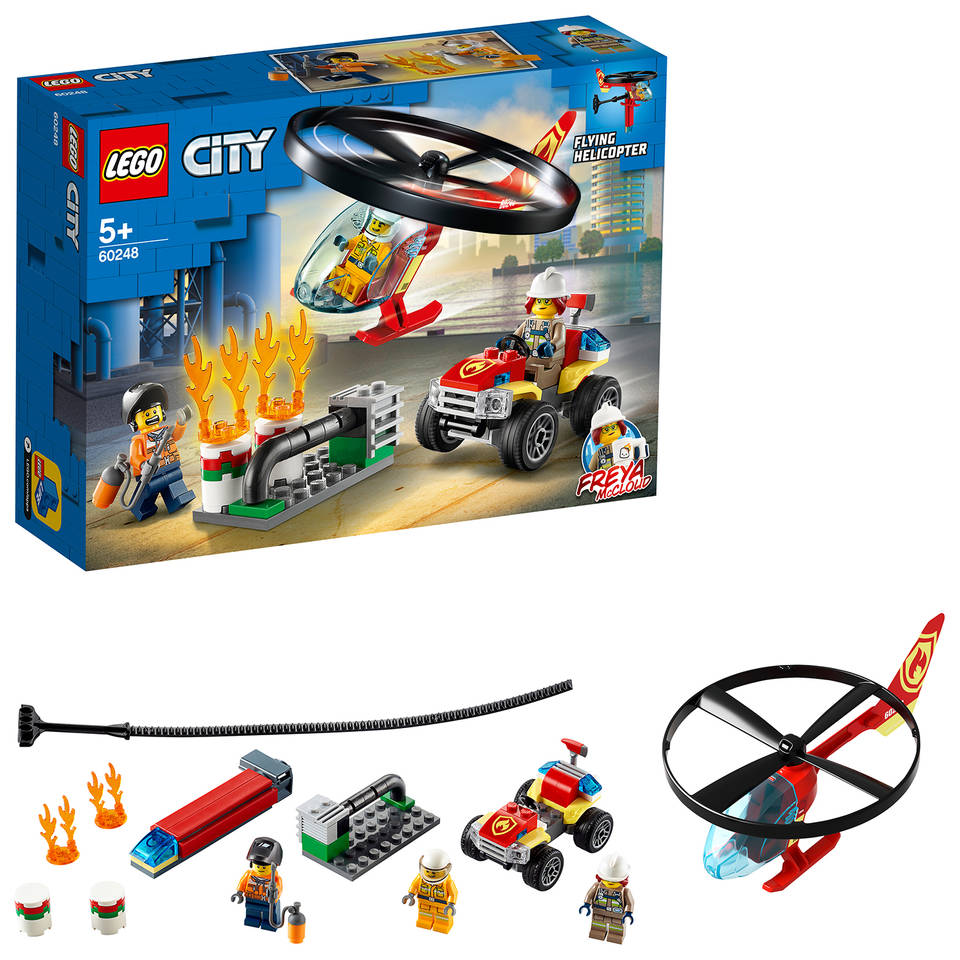 LEGO City brandweerhelikopter reddingsoperatie 60248