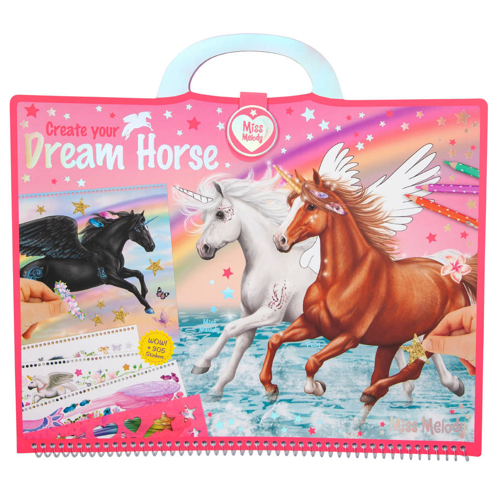 Miss Melody Create your Dream Horse tekenboek