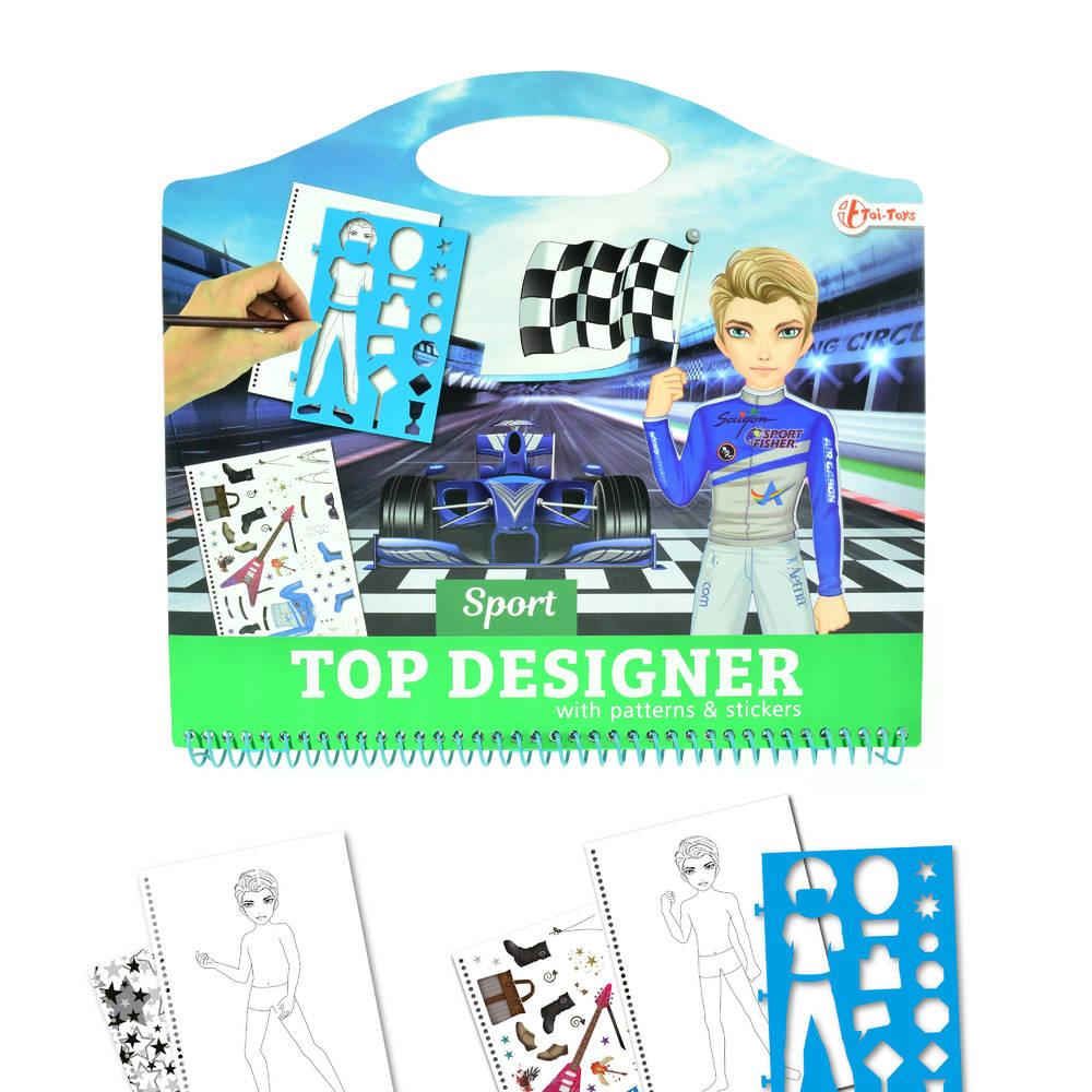 Top Designer schetsboek race met stickers