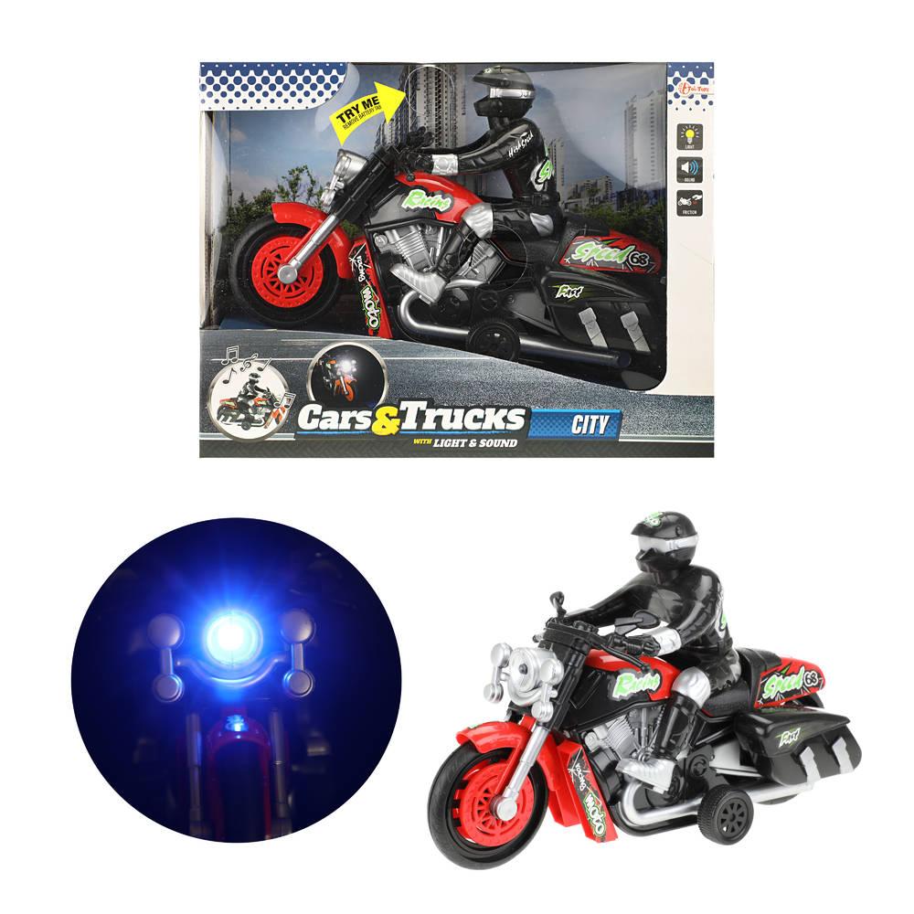 Motorfiets met bestuurder - rood
