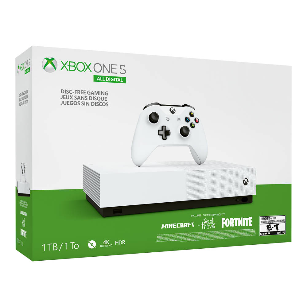 Xbox One S All-Digital 1TB console + games