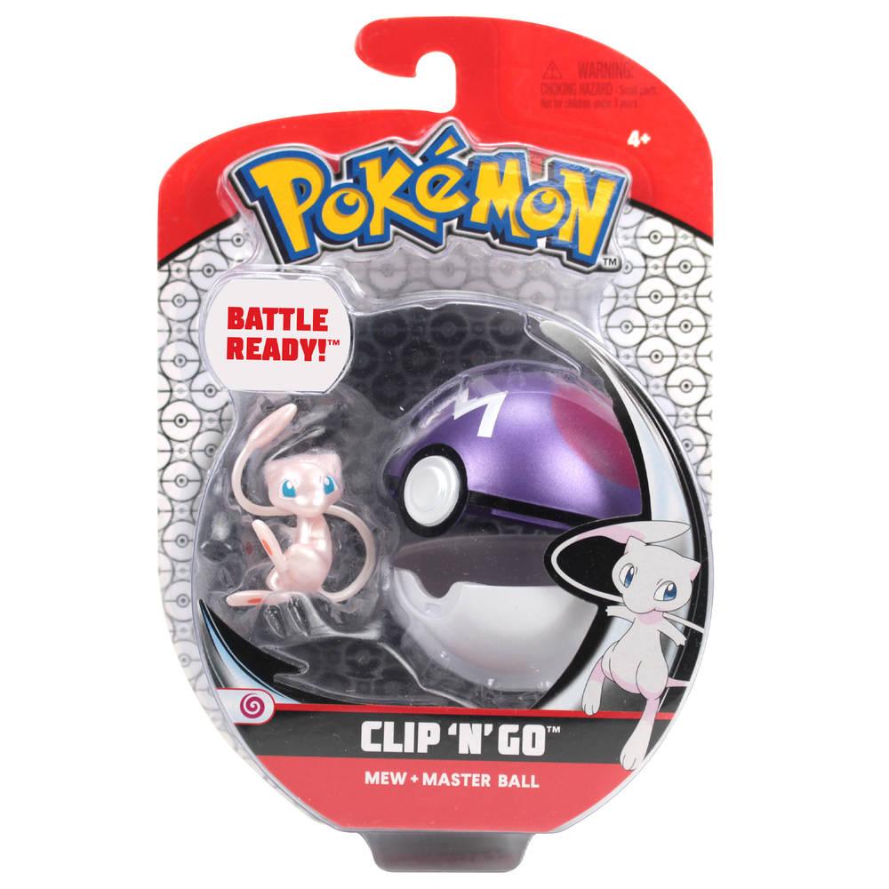Pokémon Clip 'N' Go gordelset Mew en Master Ball