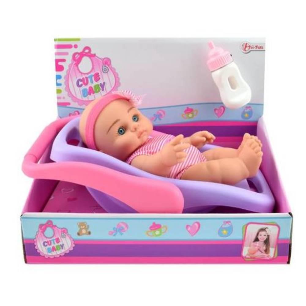 Babypop in draagstoeltje