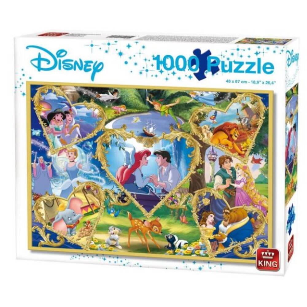 Disney puzzel harten van goud - 1000 stukjes