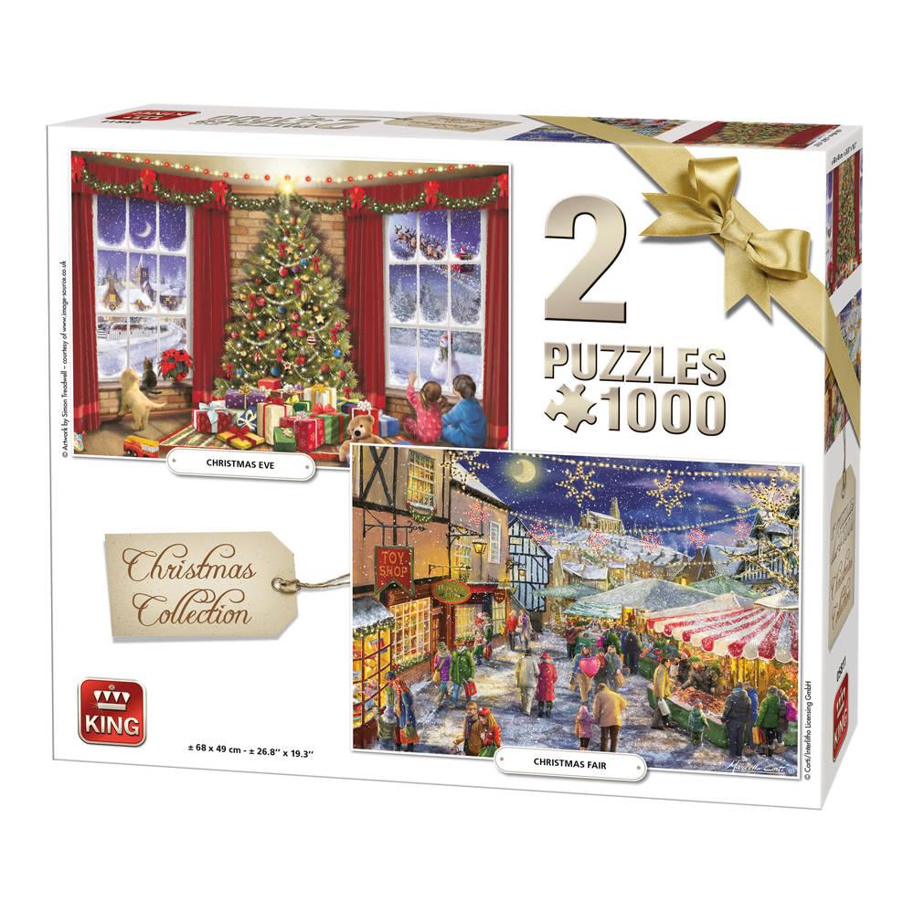 Puzzel 2-in-1 Kerstmis collectie - 1000 stukjes