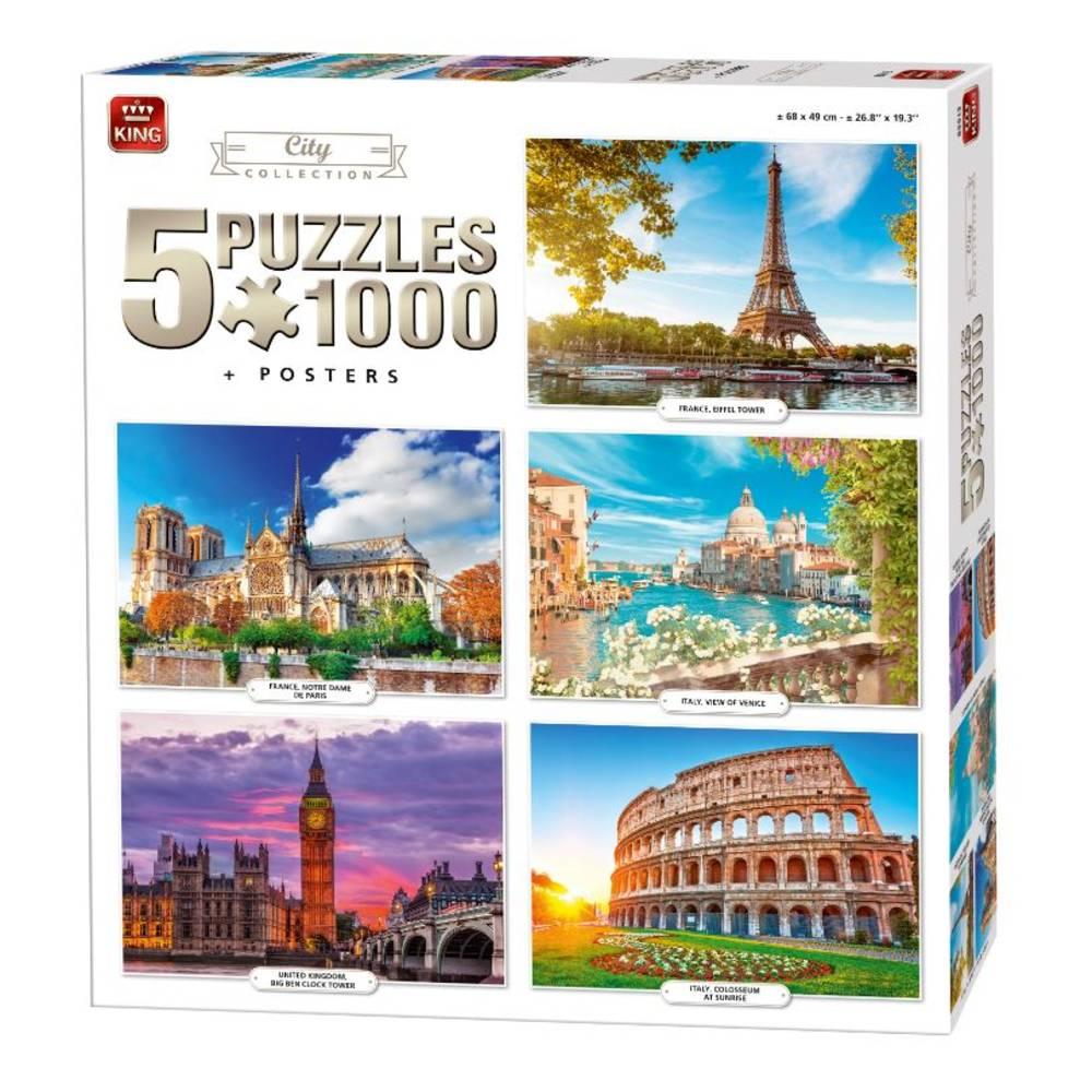 Puzzel 5-in-1 Stad collectie - 1000 stukjes