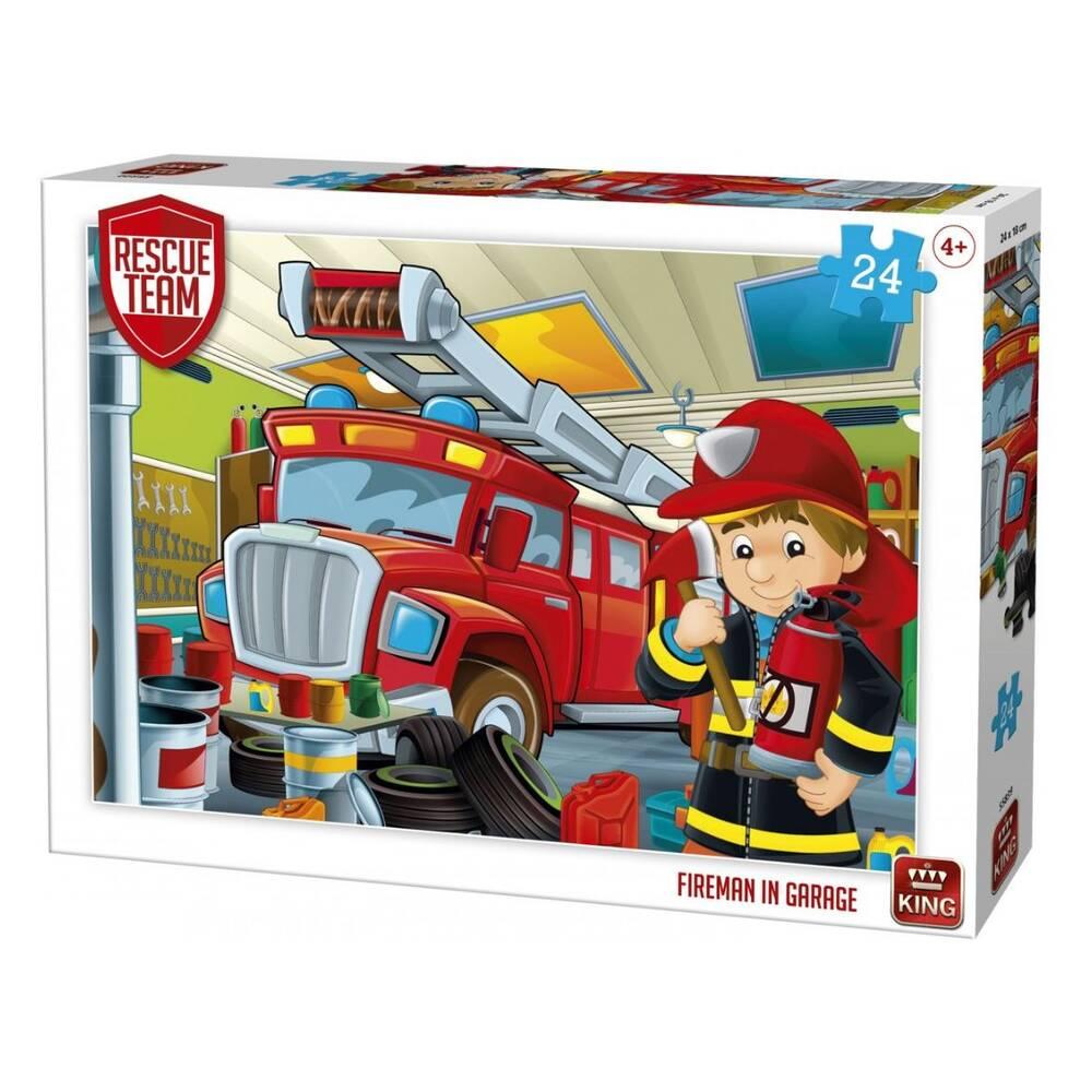 Kiddy puzzel brandweerman - 24 stukjes