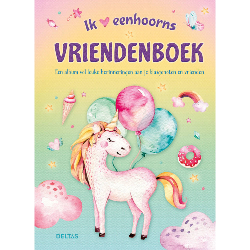 Ik hou van eenhoorns vriendenboek