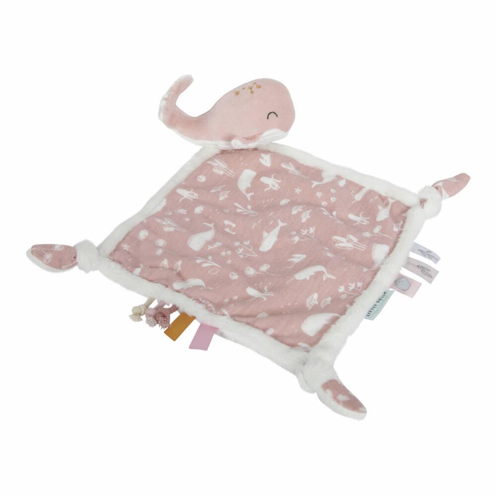 Little Dutch walvis knuffeldoek - roze