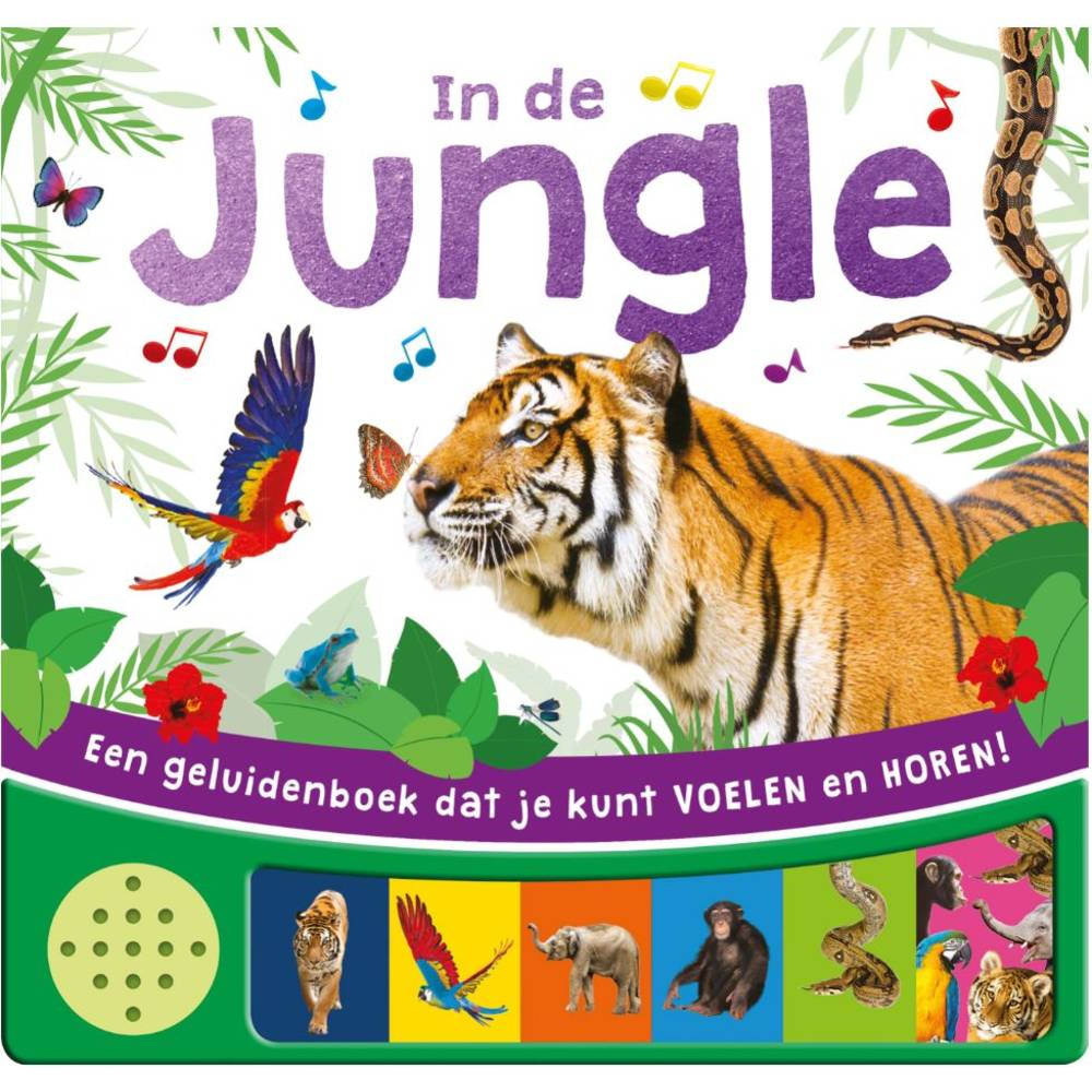 Voel- en geluidenboek in de jungle
