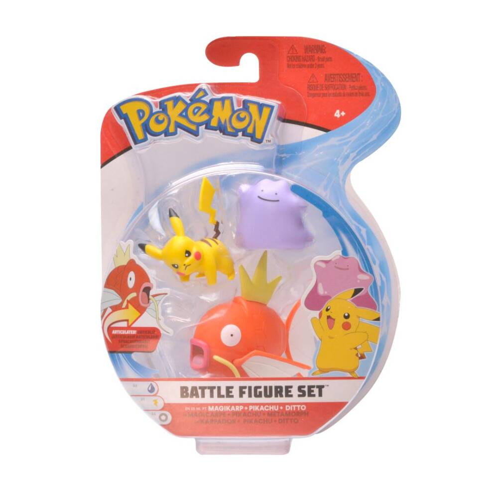 Pokémon gevechtsfigurenset Serie 5 Ditto + Pikachu + Magikarp