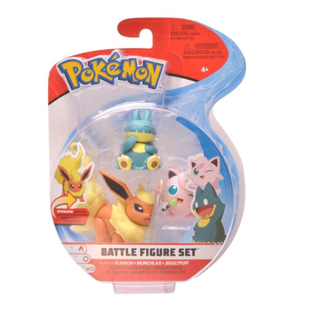 Pokémon gevechtsfiguren Serie 5 Jigglypuff + Munchlax + Flareon