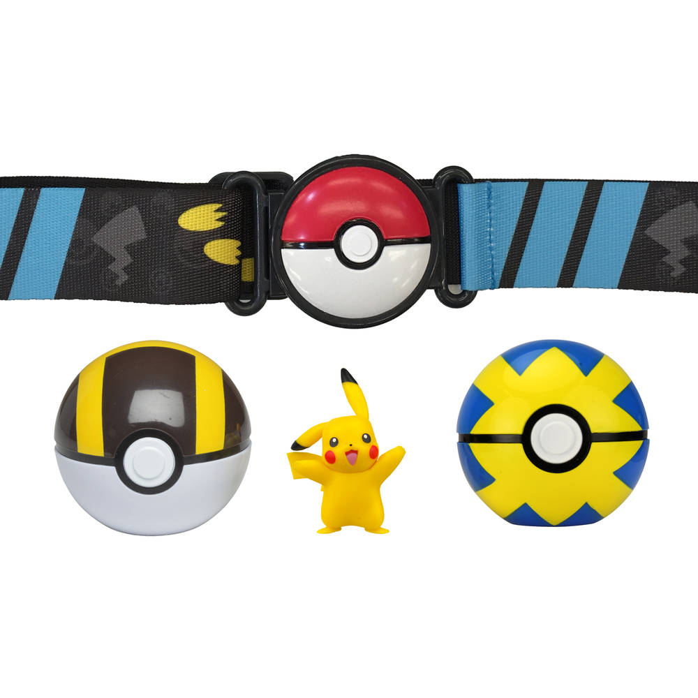 Pokémon Clip 'N Go Poké Ball Serie 5 gordelset Pikachu + Ultra Ball + Quick Ball