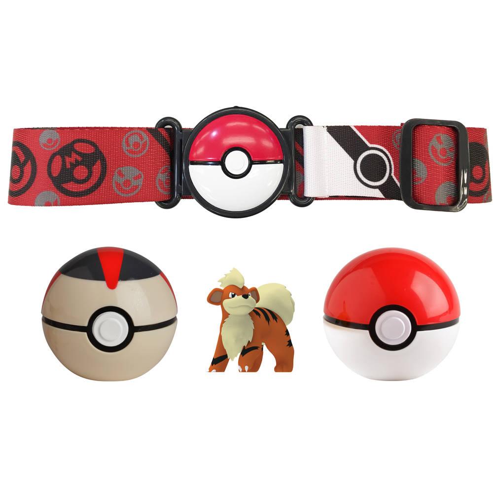 Pokémon Clip 'N Go Poké Ball Serie 5 gordelset Growlithe + Timer Ball + Poké Ball