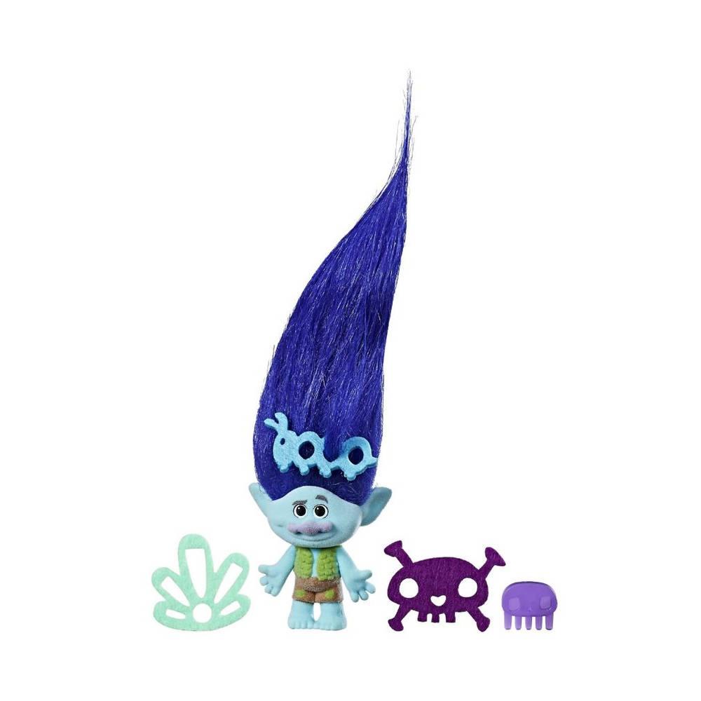 Trolls Hair Raising Branch speelfiguur met extra lang haar - 19 cm