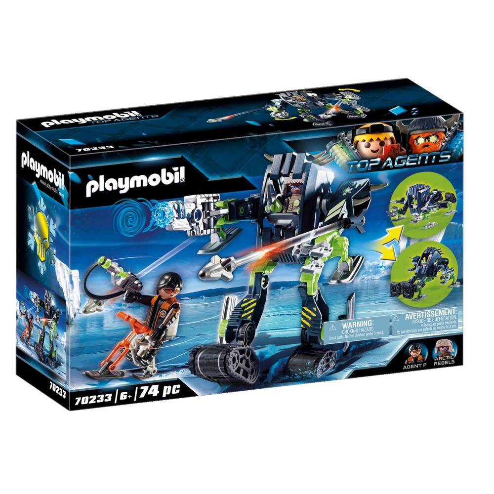 PLAYMOBIL Top Agents Arctic Rebels sneeuwrobot 70233