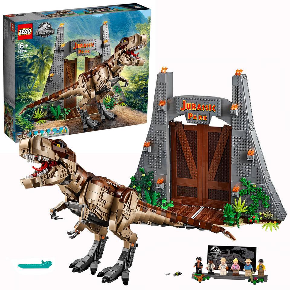 LEGO Jurassic World Jurassic Park: T. rex chaos 75936