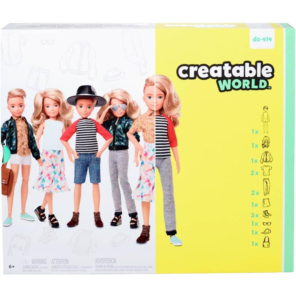 Creatable World deluxe pop met blond golvend haar - 30 cm