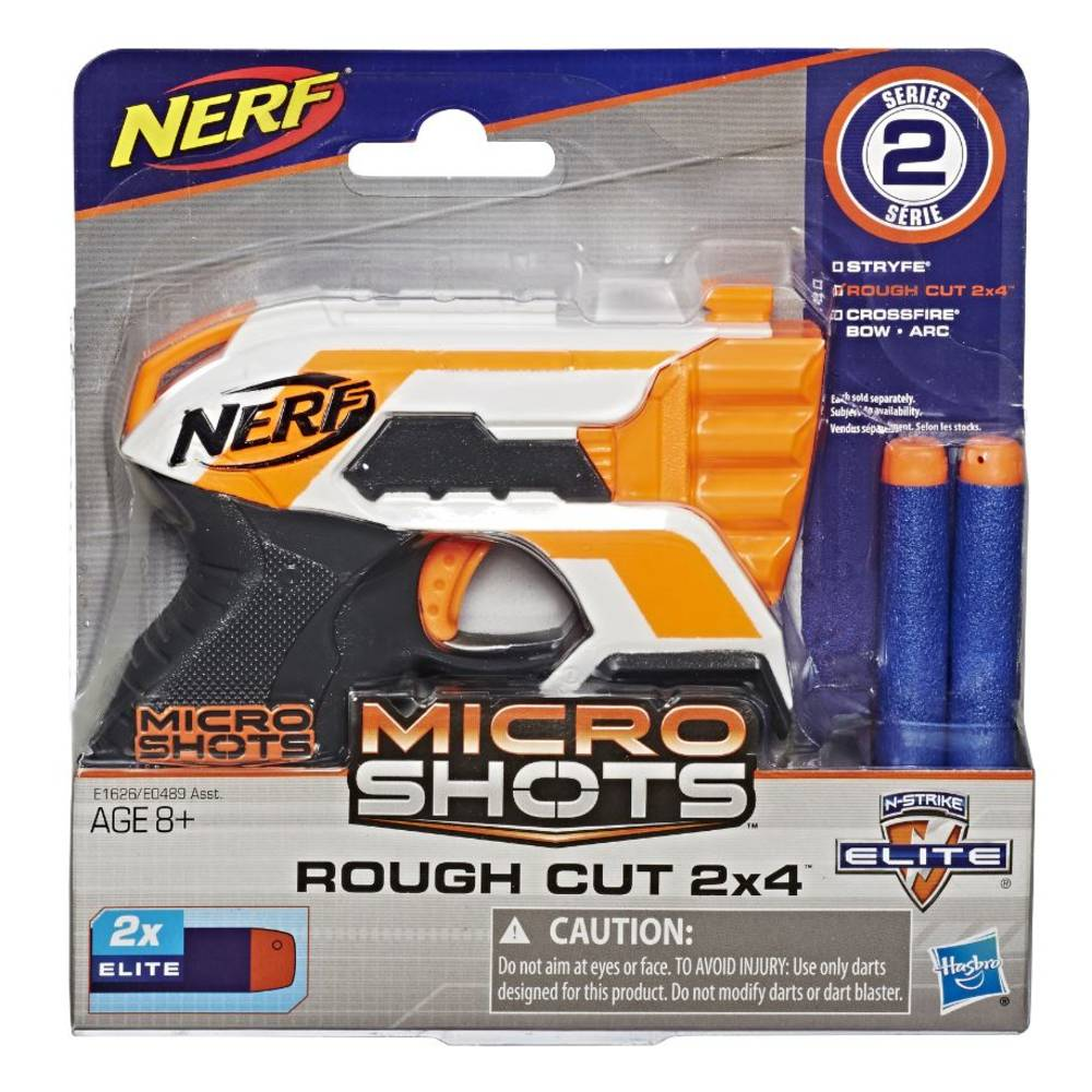 NERF MicroShots Rough Cut 2x4 blaster