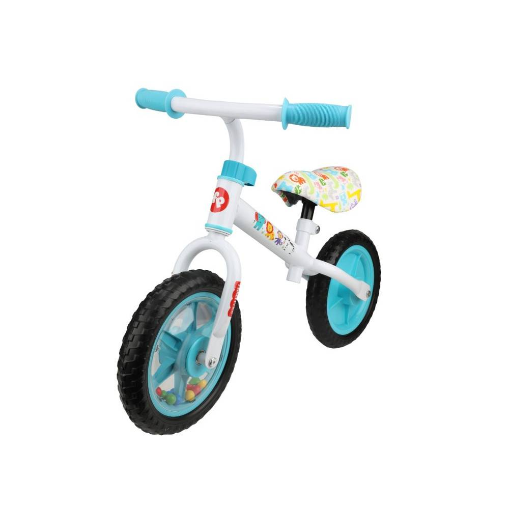 Fisher-Price kinderloopfiets - wit/blauw