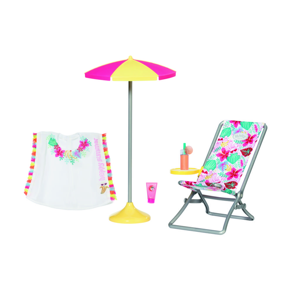 BABY born Holiday deluxe ligstoel set - 43 cm