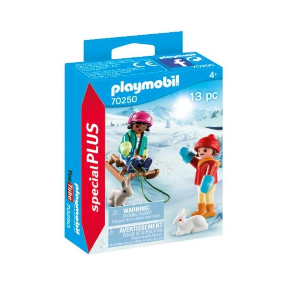 PLAYMOBIL Special Plus kinderen met slee 70250