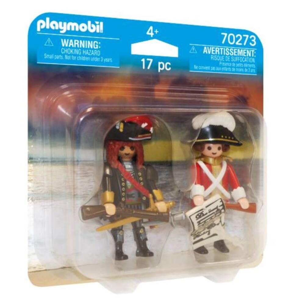 PLAYMOBIL piratenkapitein en roodroksoldaat 70273