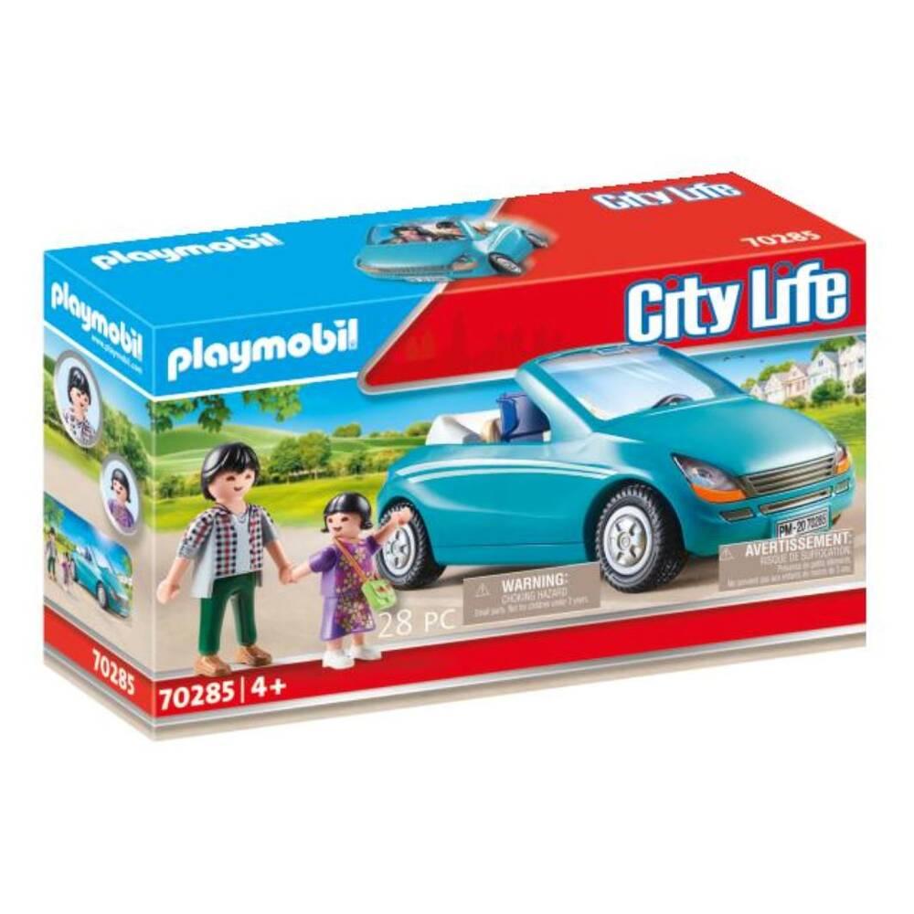 PLAYMOBIL City Life papa met dochter en cabrio 70285