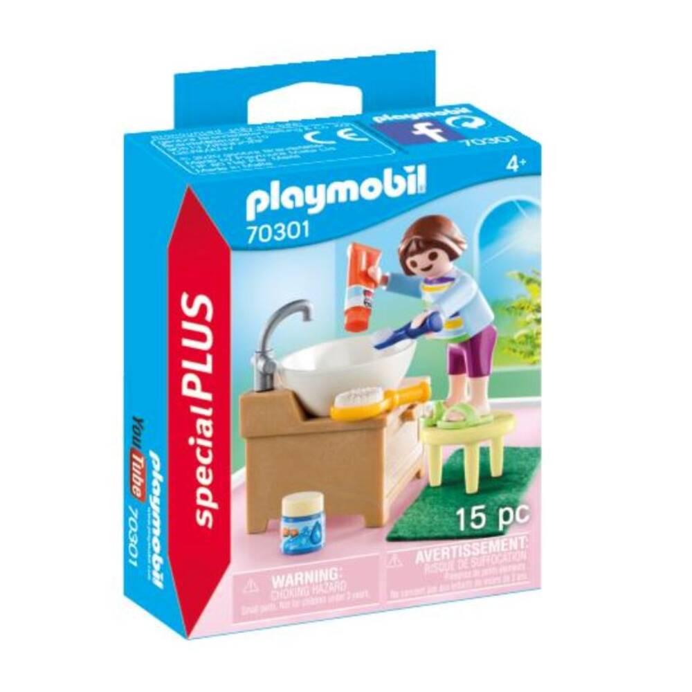 PLAYMOBIL SpecialPLUS meisje aan wastafel 70301