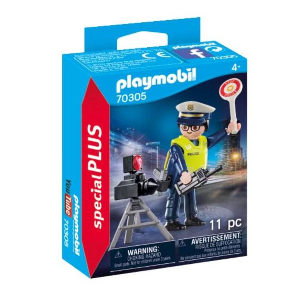 PLAYMOBIL SpecialPLUS politieman met flitscontrole 70305