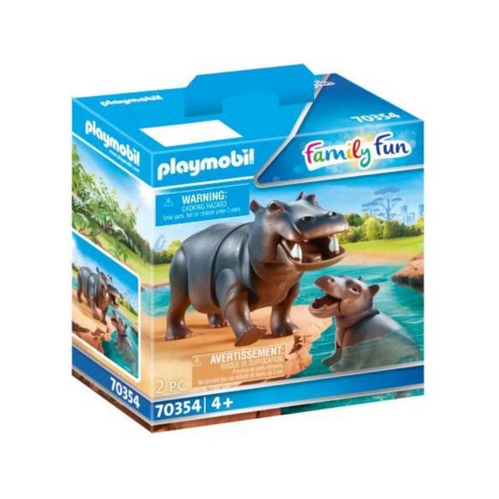 PLAYMOBIL Family Fun nijlpaard met baby 70354
