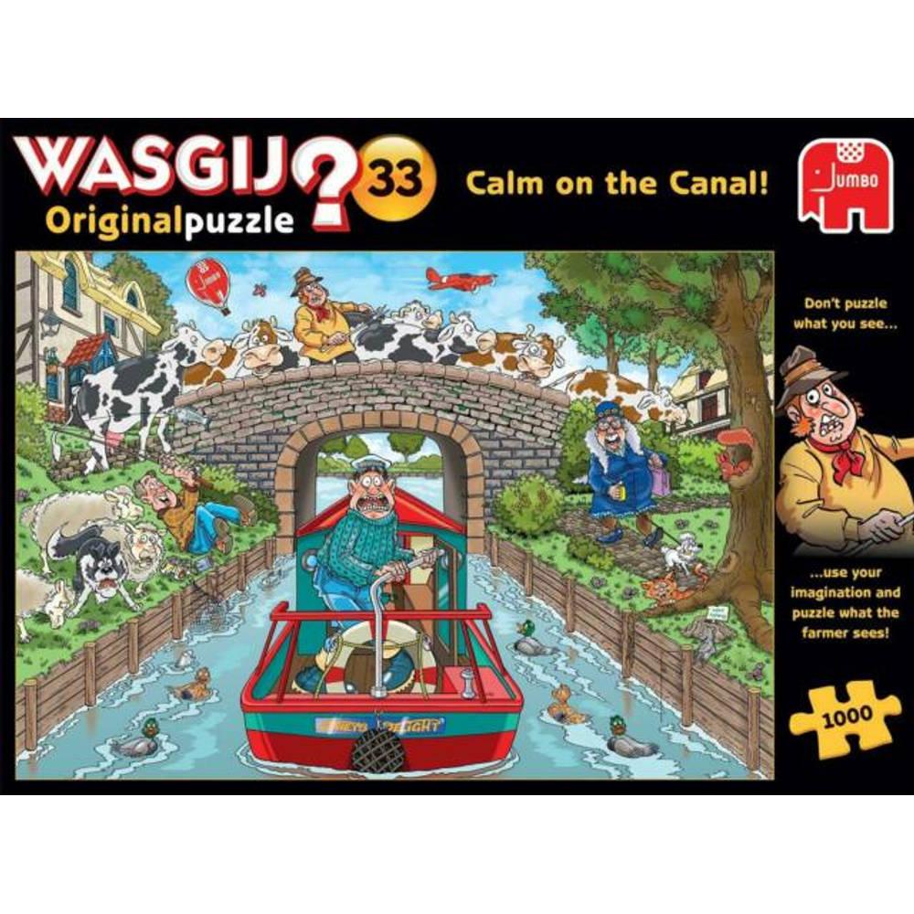 Jumbo Wasgij Original 33 Kalm op het kanaal - 1000 stukjes