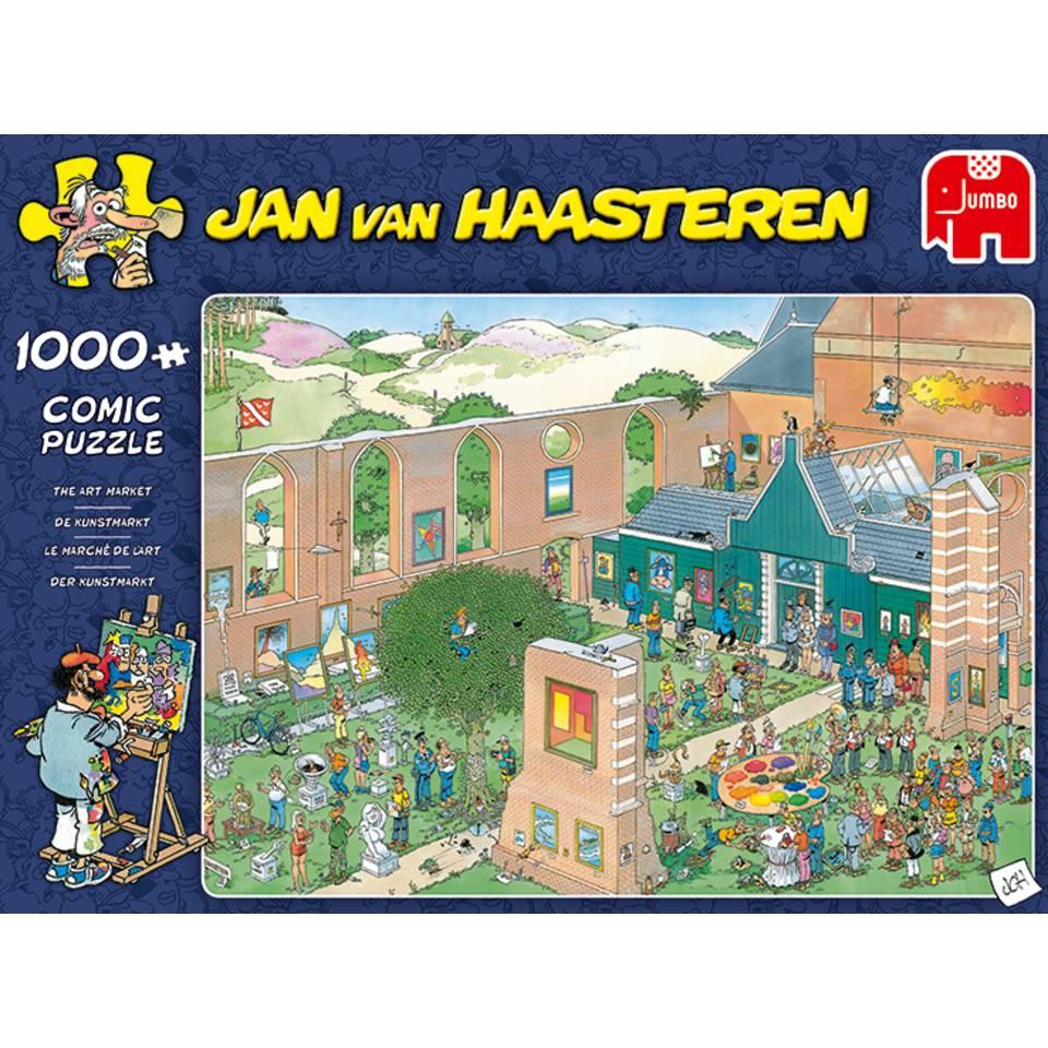 Jumbo Jan van Haasteren puzzel de kunstmarkt - 1000 stukjes