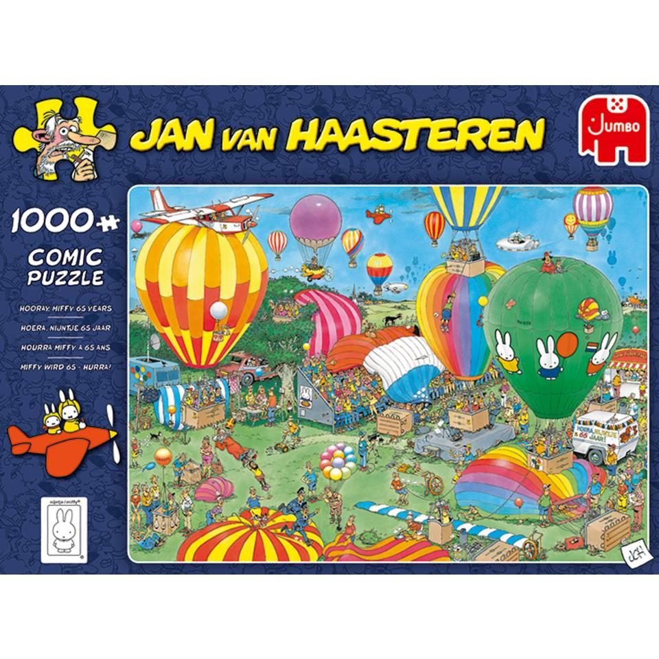 Jumbo Jan van Haasteren puzzel hoera nijntje 65 jaar - 1000 stukjes