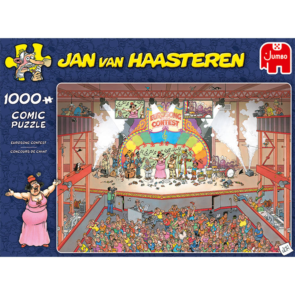 Jumbo Jan van Haasteren puzzel Eurovisie Songfestival - 1000 stukjes