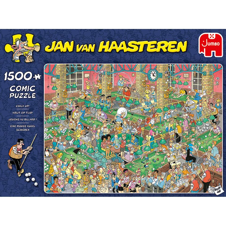 Jumbo Jan van Haasteren puzzel krijt op tijd - 1500 stukjes