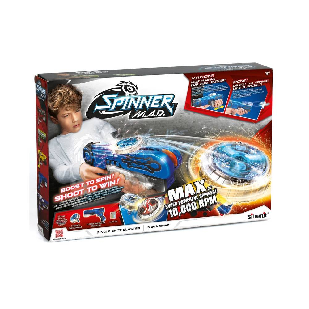 Spinner Mad single shot starter pack - blauw