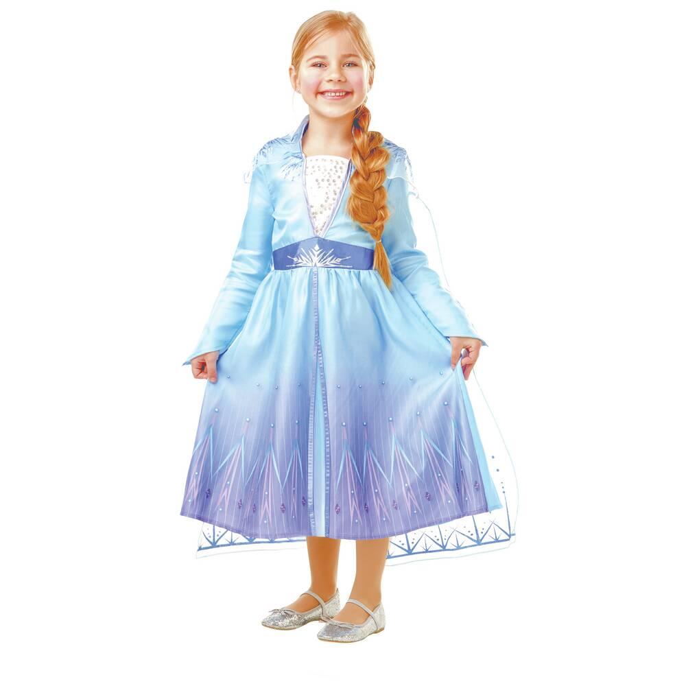 Disney Frozen Elsa prinsessenjurk - blauw - maat S