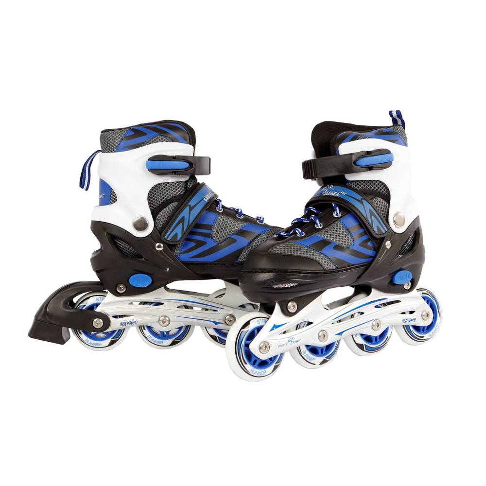 Inline skates - maat 39-42 - blauw/zwart