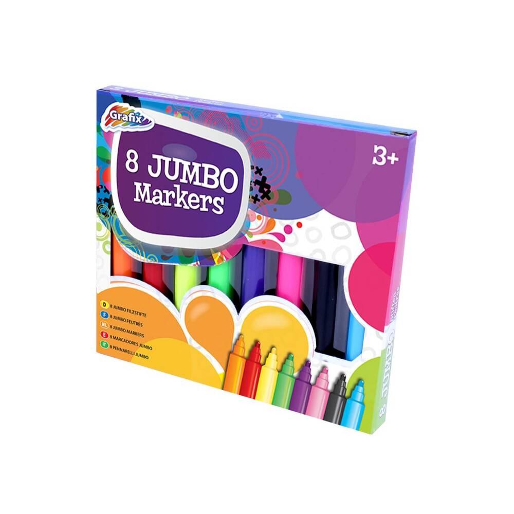 Jumbo markers set 8-delig