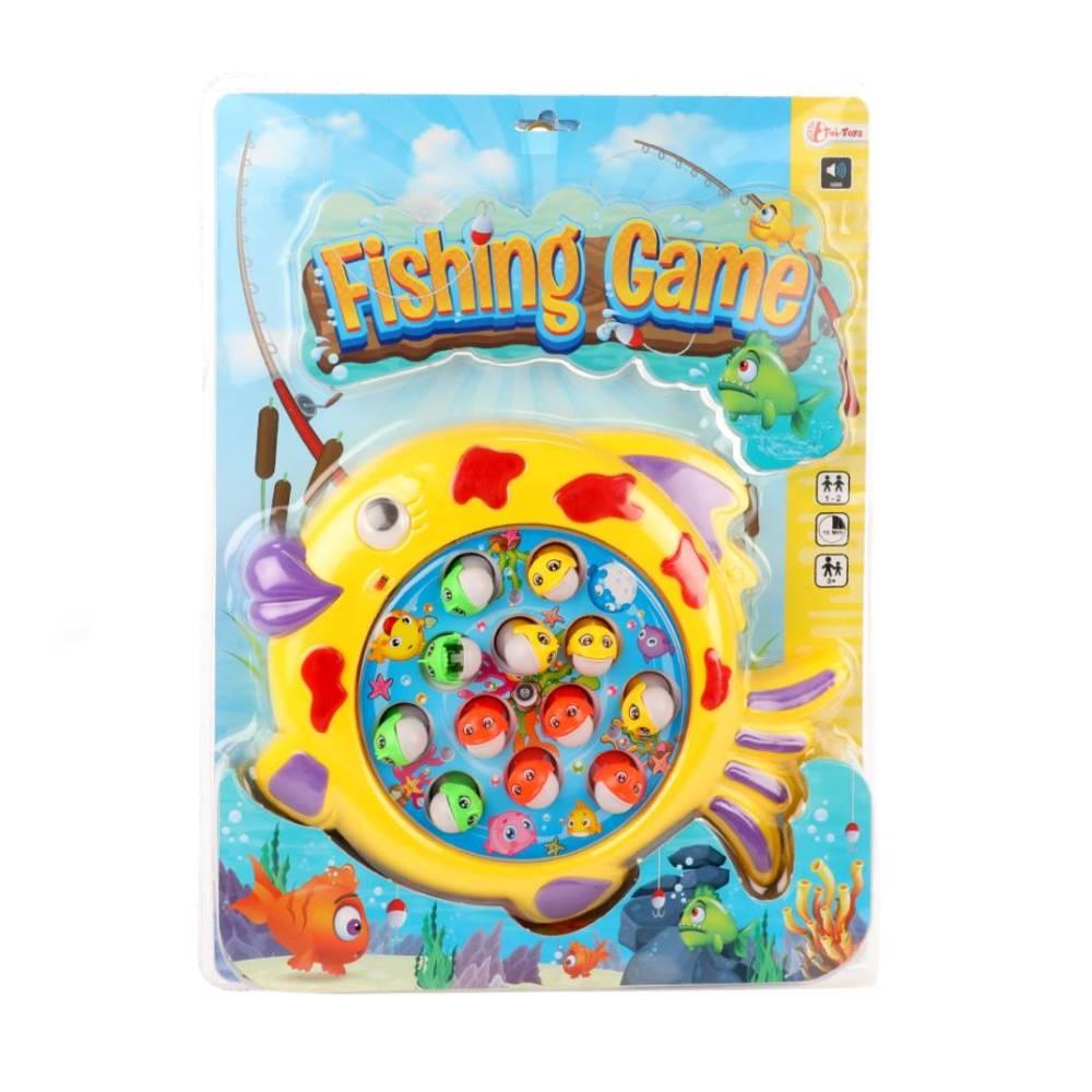 Vang de vis spel op draaischijf met geluid