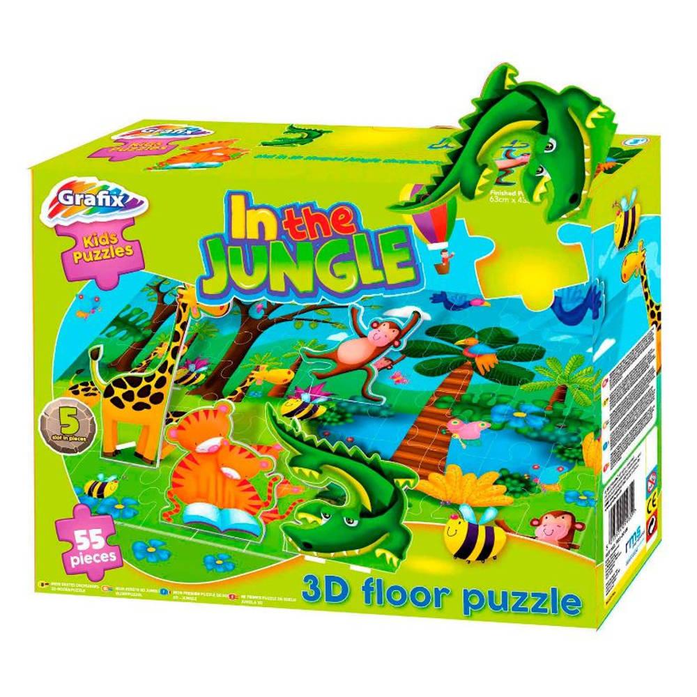 3D-vloerpuzzel in de jungle