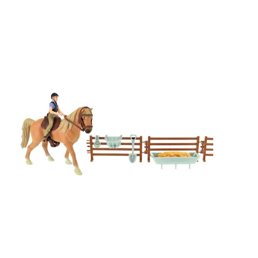 Paard met ruiter en accessoires