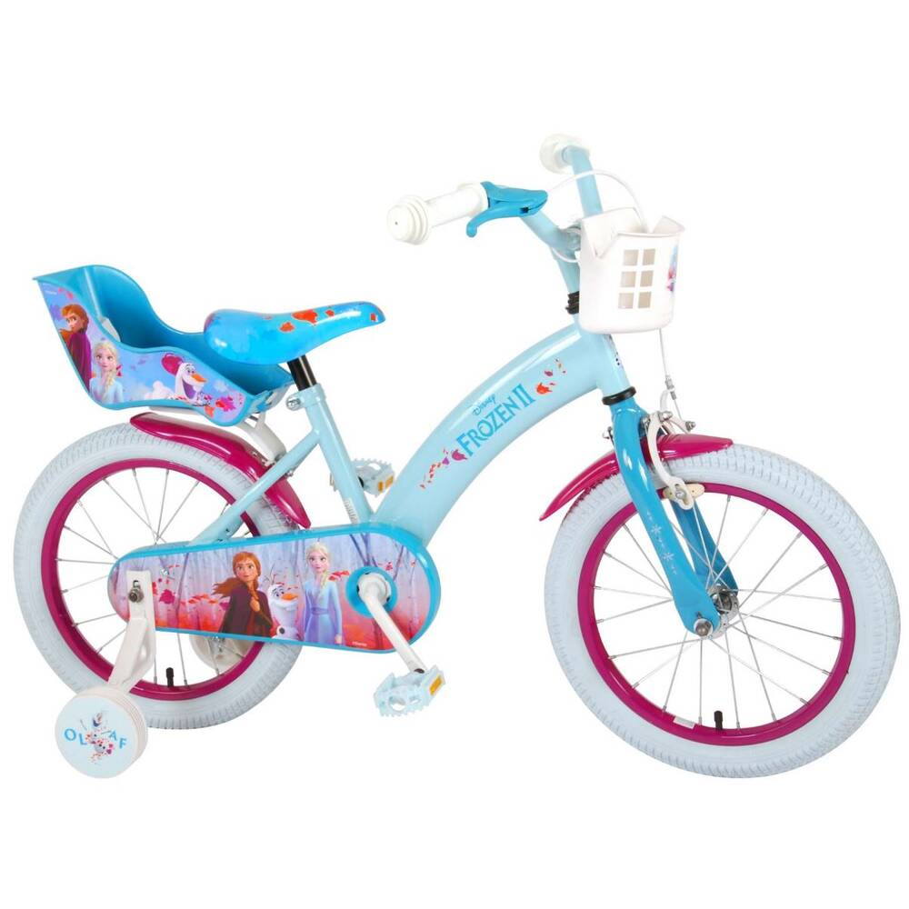 Volare Disney Frozen 2 kinderfiets - 16 inch - blauw/paars