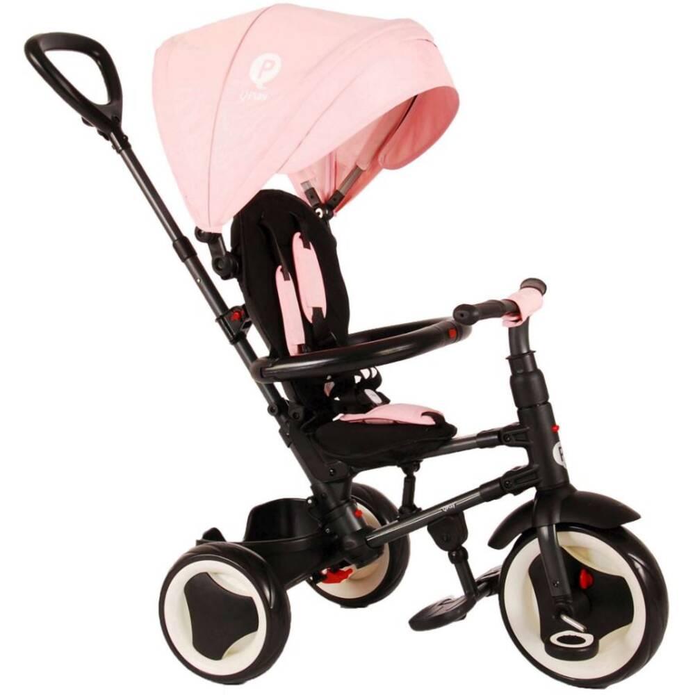 QPlay Rito 3-in-1 driewieler deluxe - zwart/roze
