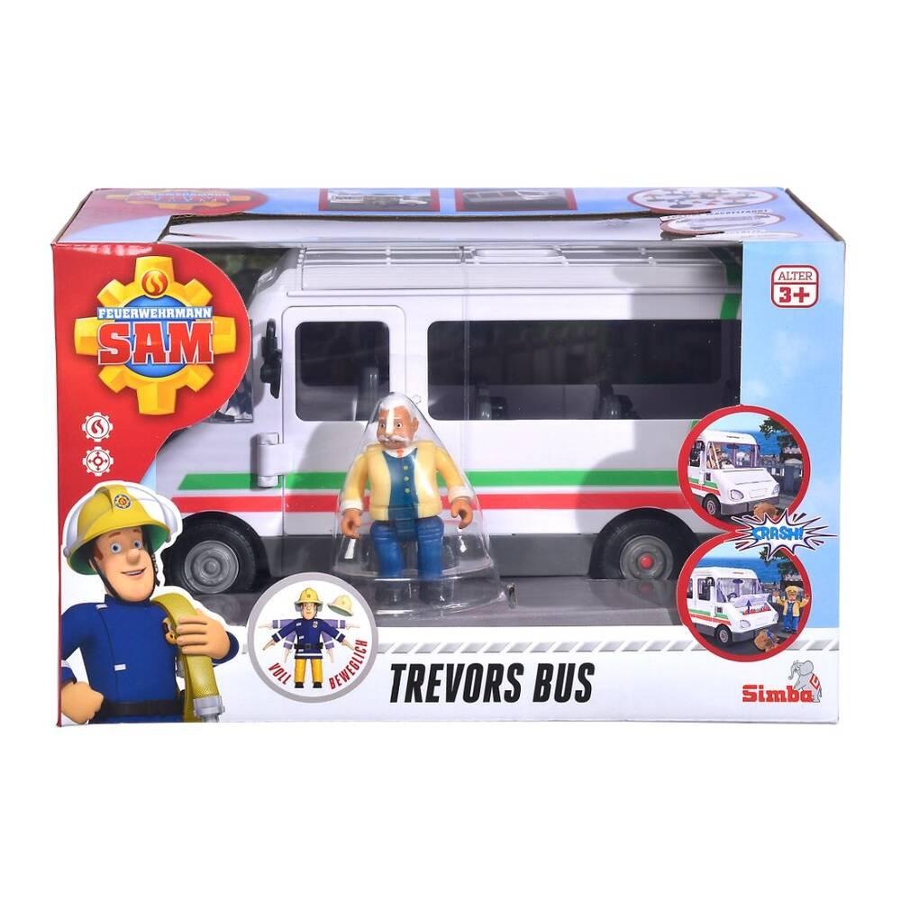 Simba Brandweerman Sam Trevors bus met figuur