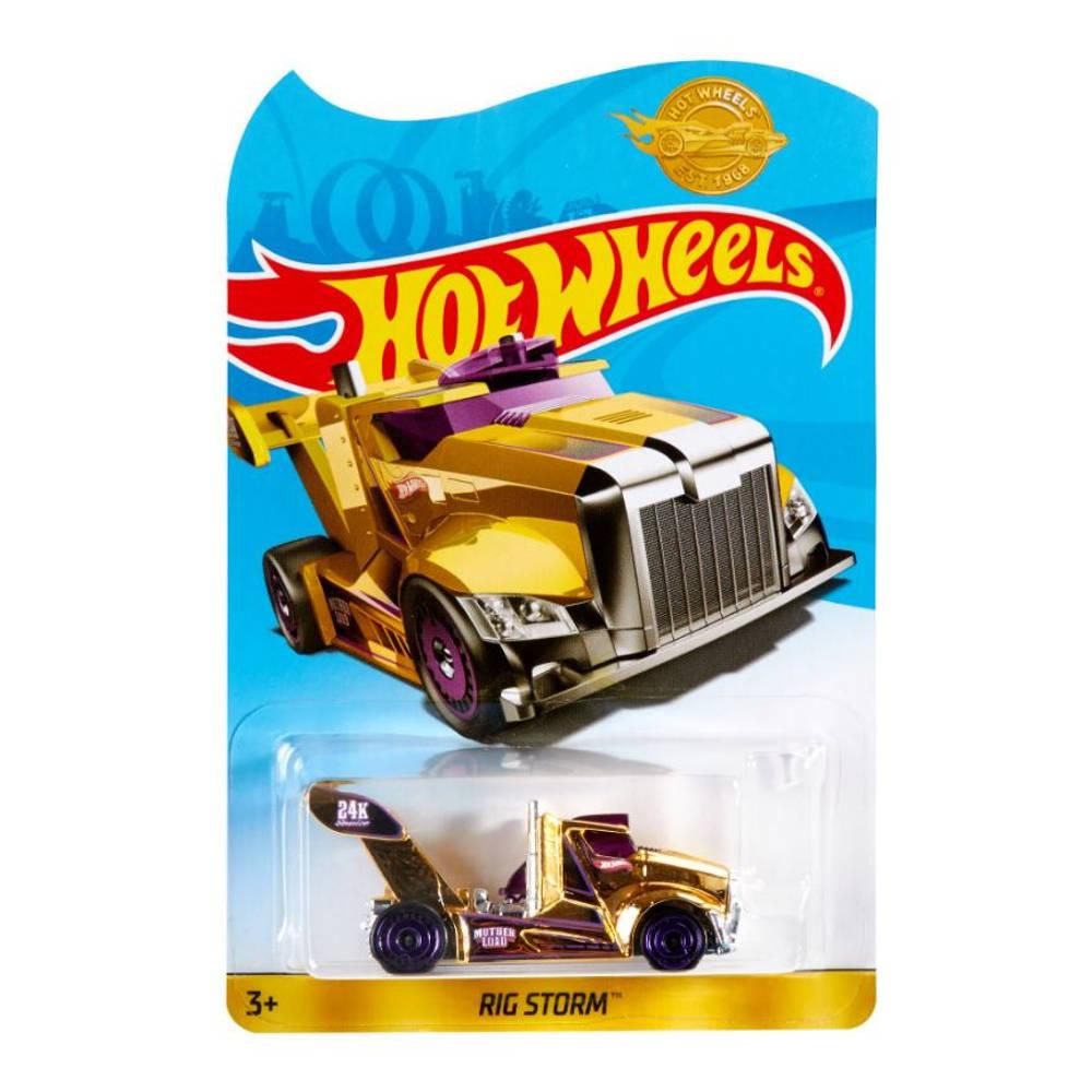 Hot Wheels Rig Storm auto - goudkleurig