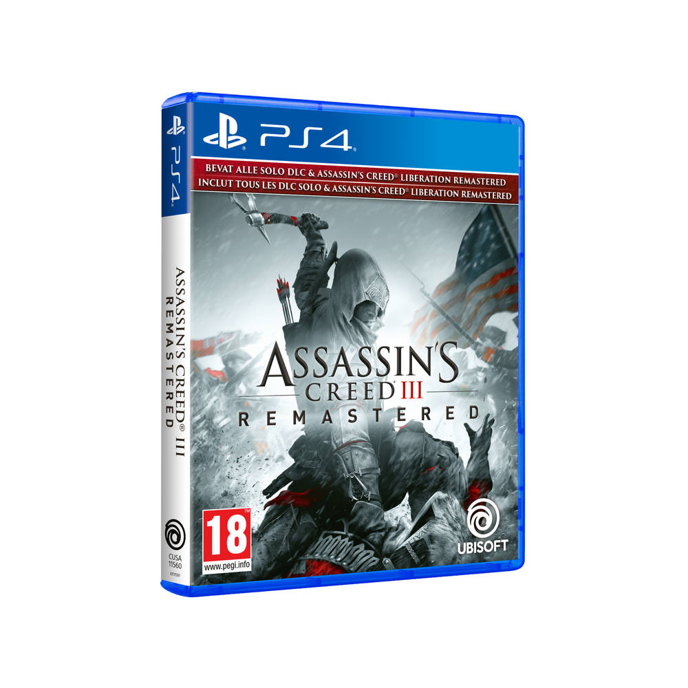 PS4 Assassin's Creed III Remastered + Assassin's Creed Liberation Remastered